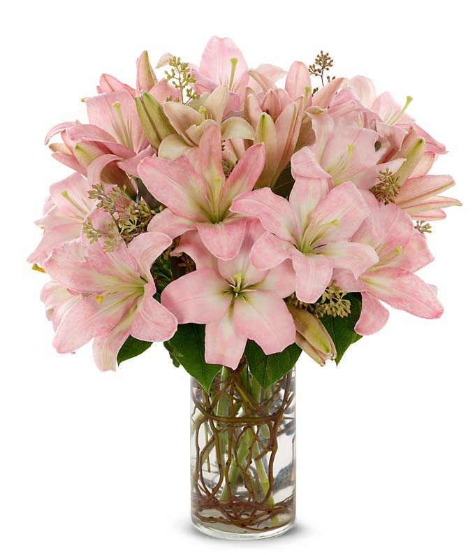 Stunning pink lilies at from you flowers - Faux bouquet de fleur ...