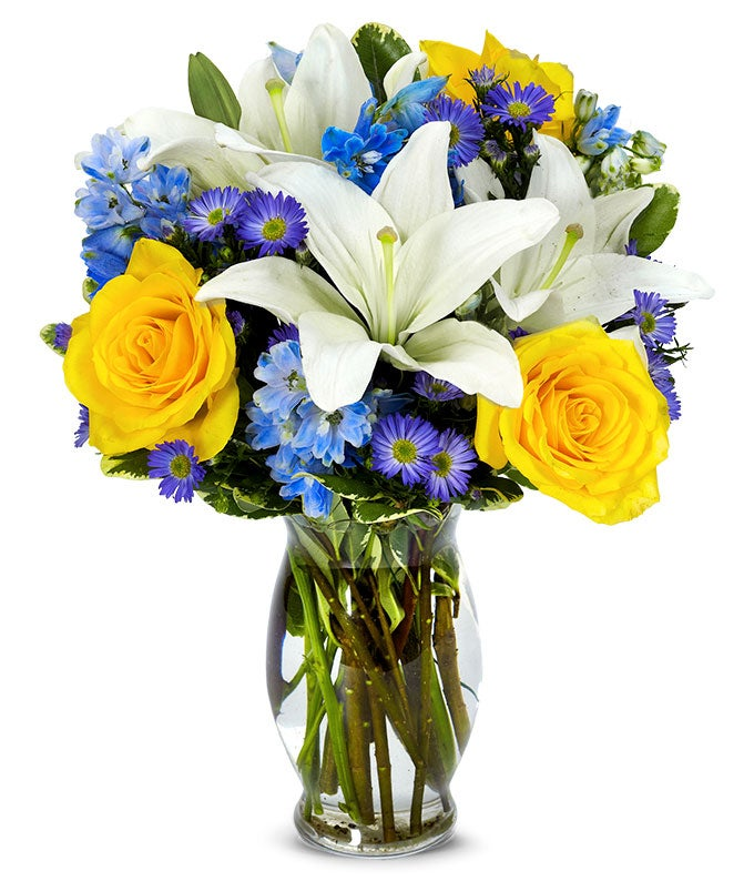 The Bright Blue Skies Bouquet