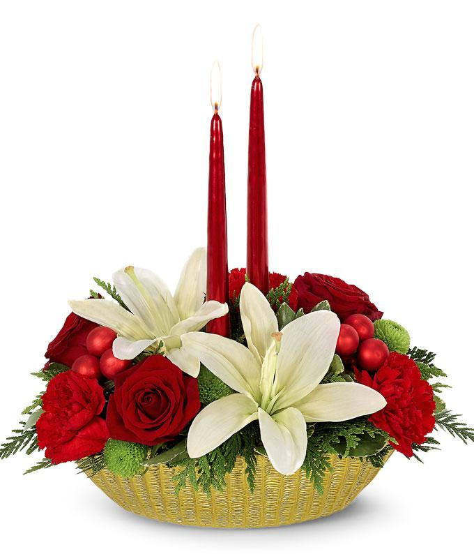 Bright Holiday Wishes Centerpiece