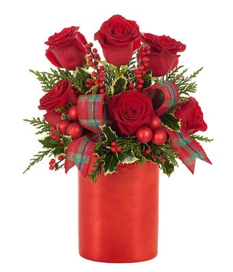 Holiday Rose Shimmer Bouquet