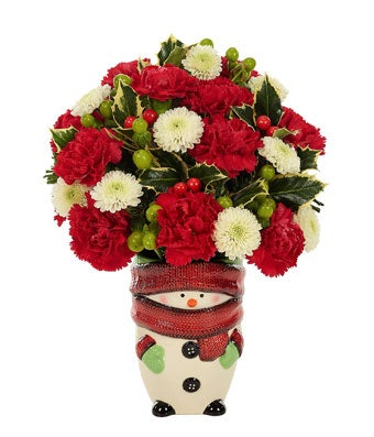 Snowman Greetings Bouquet