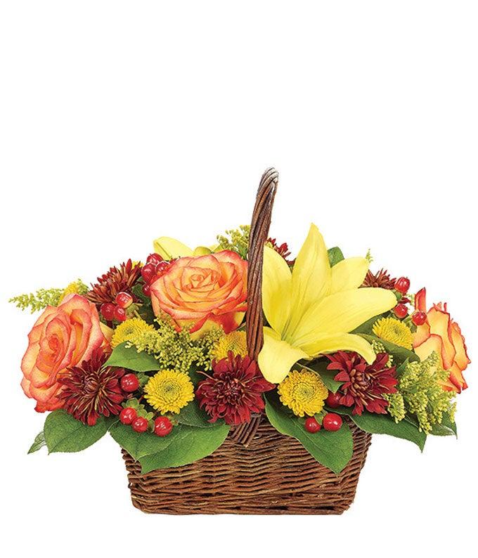 Fall Harvest Woven Basket