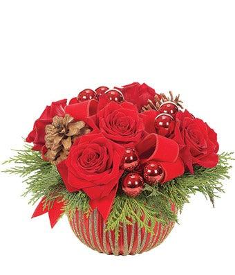 Red Velvet Ornament Bouquet