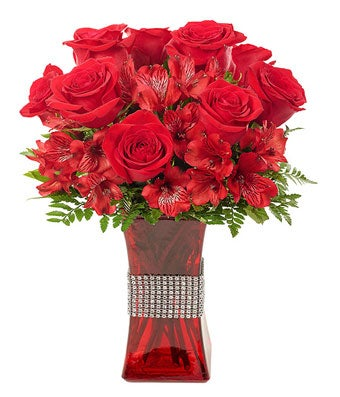 Bejeweled Bouquet of Red
