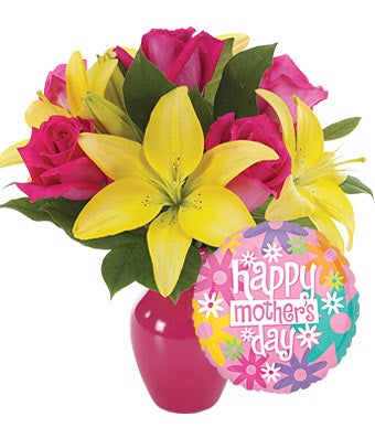 mother's day balloons bouquet at from you flowers, Natural flower