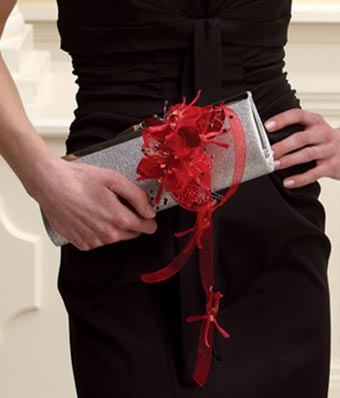Red Dazzle Clutch Corsage