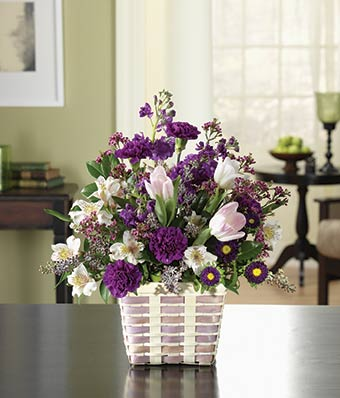 purple floral garden at from you flowers, Beautiful flower