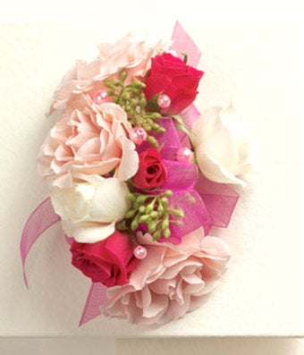 blushing beauty corsage at from you flowers, Natural flower