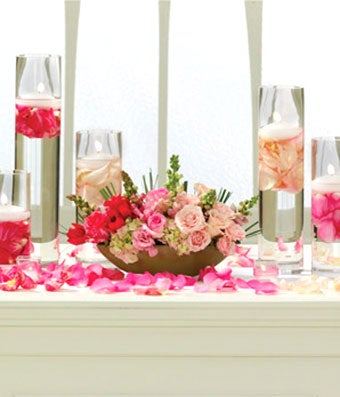 Blushing Beauty Altar Arrangement