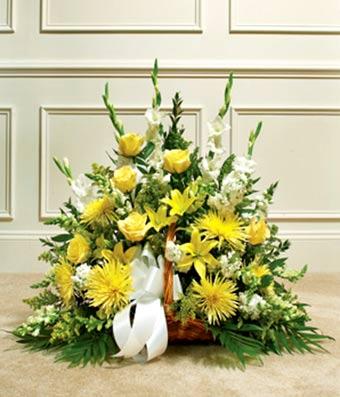 Yellow & White Mixed Fireside Basket