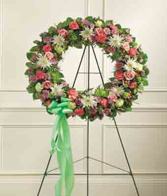 Multicolor Pastel Mixed Flower Wreath