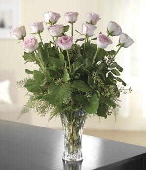 Precious Pink Dozen Roses