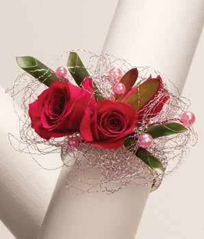 Romantic Rose Wrist Corsage