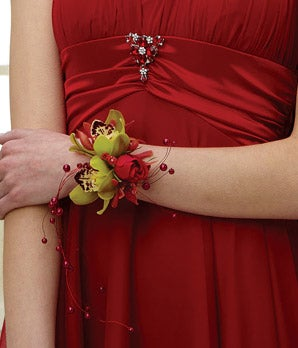 Rockin Red Wrist Corsage At From You Flowers