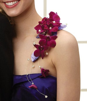 Purple Reigns Shoulder Corsage At From You Flowers