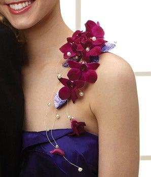Purple Reigns Shoulder Corsage
