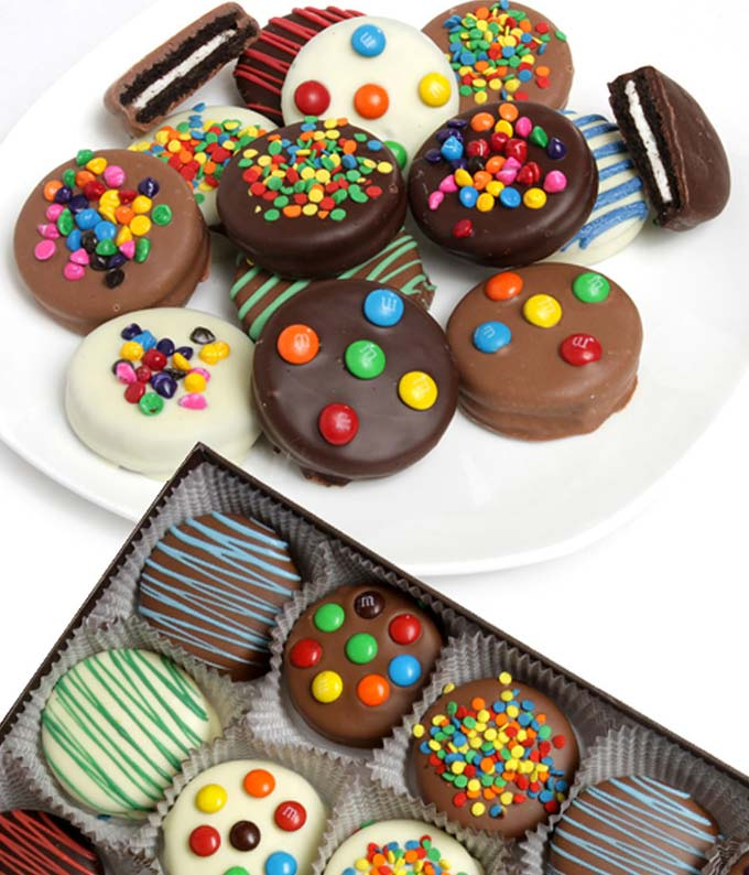 Birthday Chocolate Covered OREO® Cookies - 12 Pieces