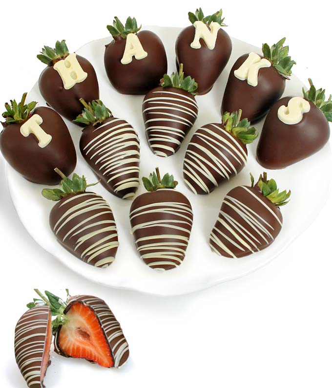 THANKS Chocolate Covered Strawberry BerryGram - 12 Pieces