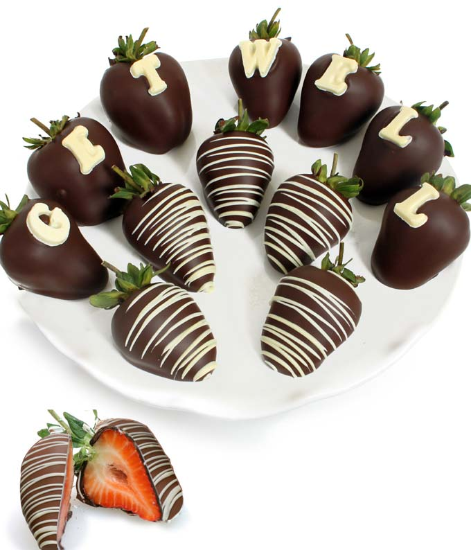 GET WELL Chocolate Covered Strawberries