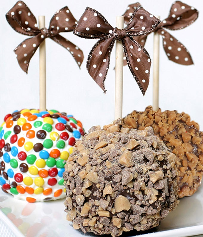Birthday Chocolate Covered Apples - 3 Pieces
