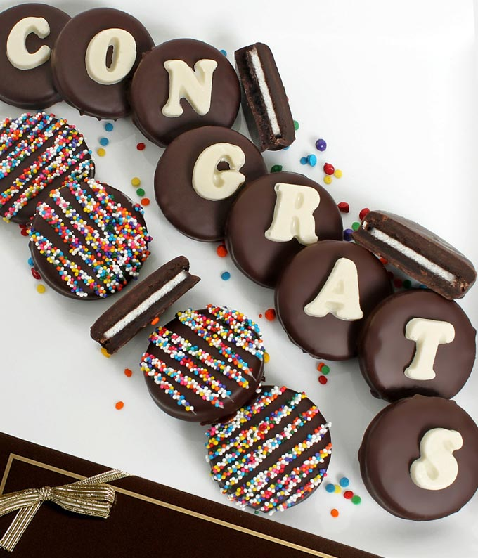 CONGRATS Belgian Chocolate Covered OREO® Cookies - 14 Pieces