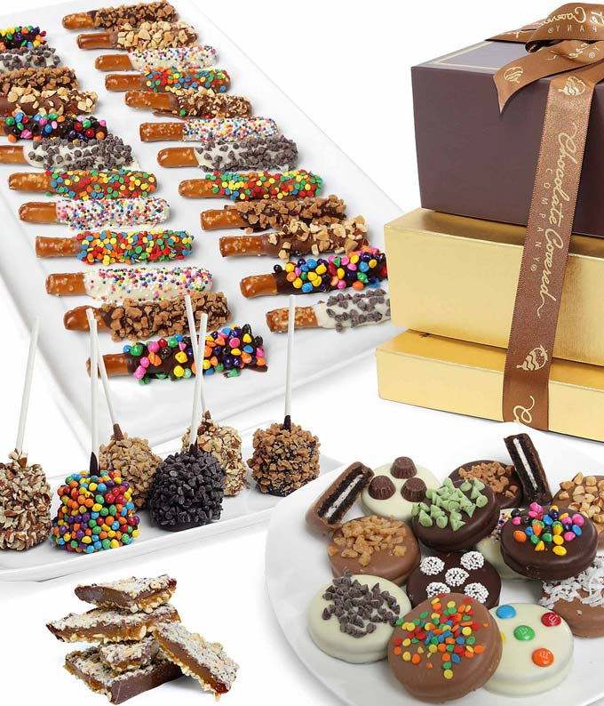 Deluxe Belgian Chocolate Covered Gift Tower