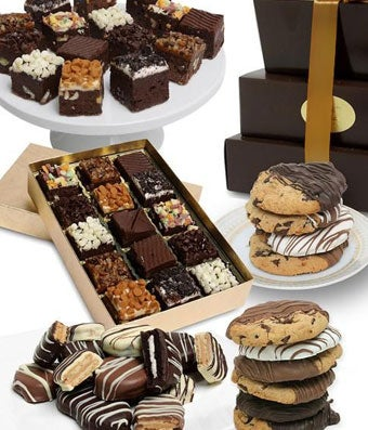 Classic Cookie and Brownie Tower