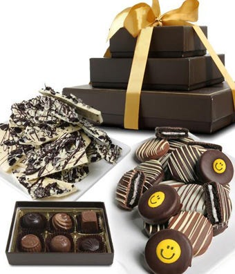 SMILE CHOCOLATE Gourmet Gift Tower
