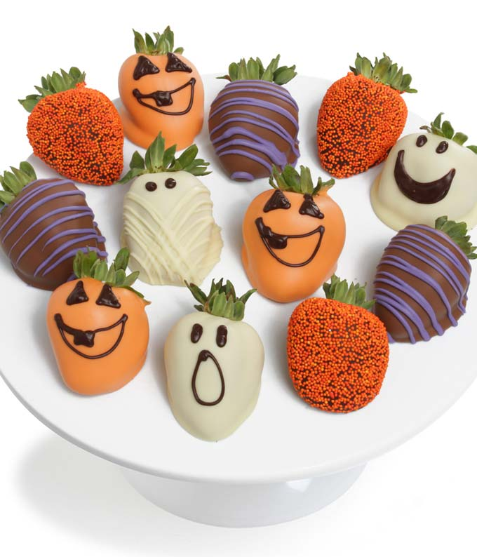 Halloween Chocolate Covered Strawberries - 12 Pieces