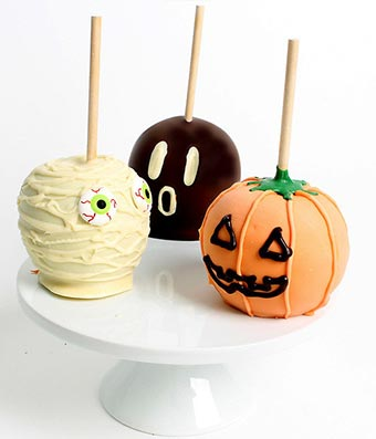 Spooky Caramel Apples - 3 Pieces
