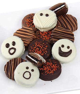 Mummy Chocolate-Dipped OREO® Cookies Gift - 12 Pieces