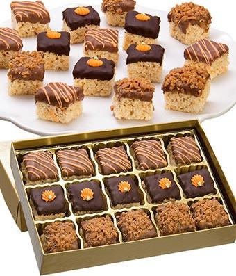 Fall Belgian Chocolate Crispy Bites - 15 Pieces