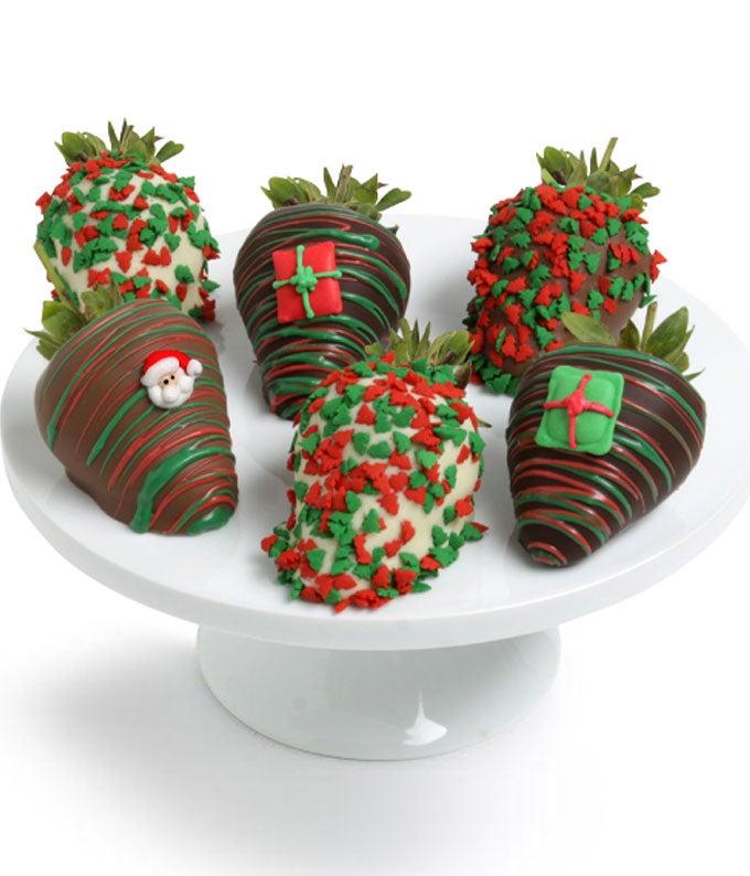 Christmas Chocolate Covered Strawberries