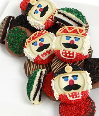 Chocolate Covered Nutcracker Oreo Cookies - 12 Pieces