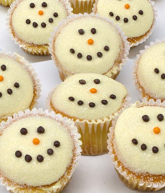 Snowman Chocolate Covered Cupcakes