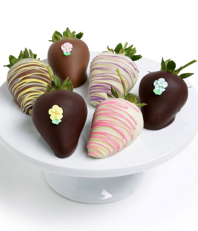 Easter Chocolate Covered Strawberries - 6 Pieces