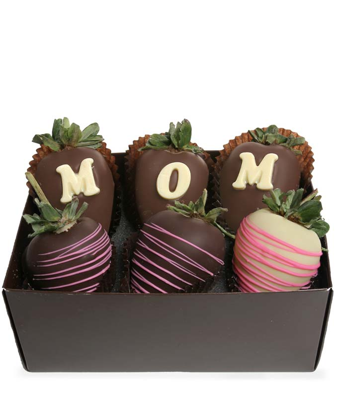 Mom Chocolate Covered Strawberries - 6 Pieces