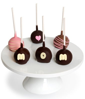 Loving Heart Chocolate Covered Cake Pops - 6 Pieces