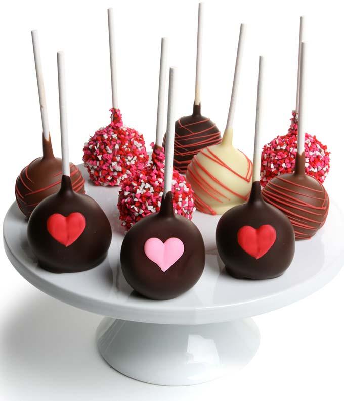 Love Chocolate Cake Pops - 12 Pieces
