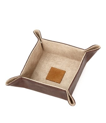 Brown Leather Ring Dish