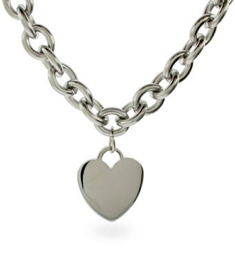 Stainless Steel Heart Tag Necklace