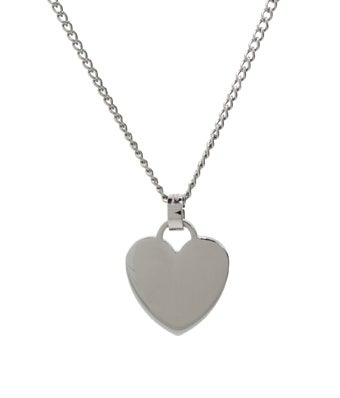 Stainless Steel Heart Charm Pendant