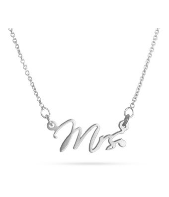Mrs. Sterling Silver Necklace