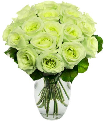 One And A Half Dozen Green Roses At From You Flowers