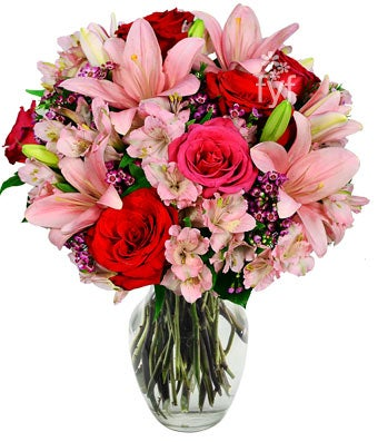 Rose and Lily Bouquet - Premium