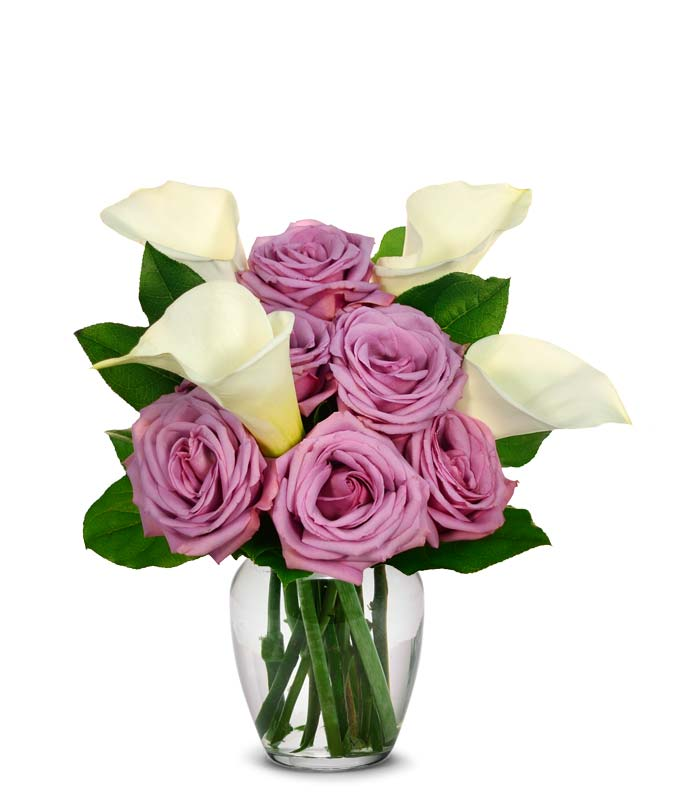Flowers Mother's Day approved with purple roses