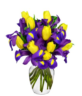 Sunny Tulip and Iris Bouquet