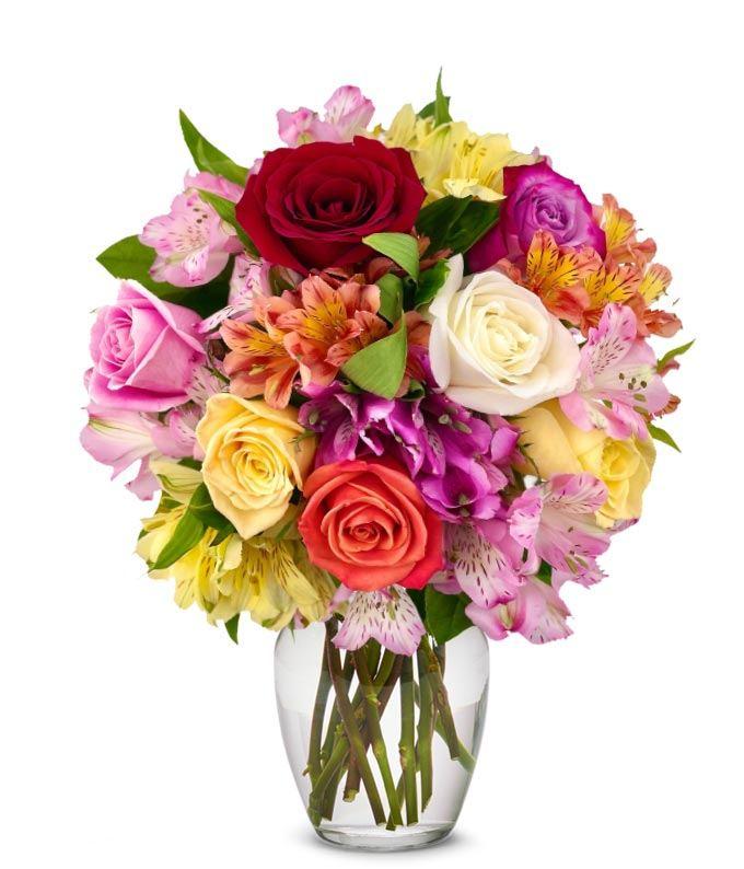 Roses & Alstros Bouquet - Regular