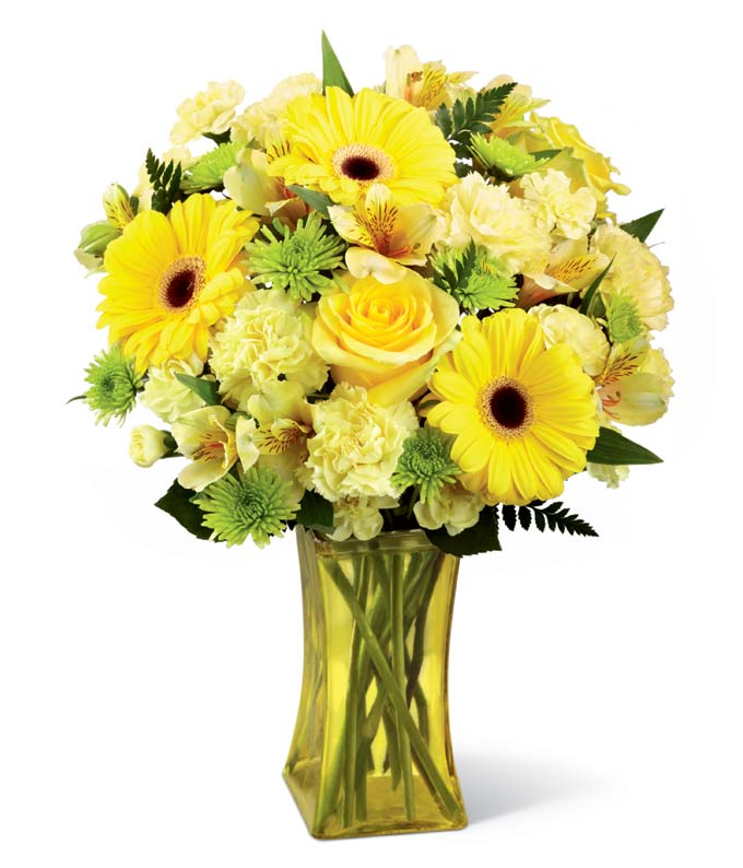 Bursting Yellow Bouquet