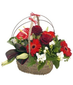 Rose and Gerbera Basket